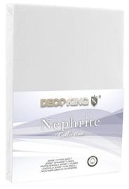 Palags DecoKing Nephrite, balta, 200x200 cm, ar gumiju
