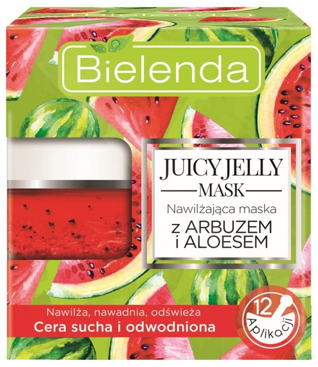 Veido kaukė Bielenda Juicy Jelly Mask Moisturizing With Watermelon And Aloe , 50 g