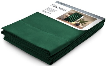 AmeliaHome Pleat Blackout Curtains Dark Green 140x245cm