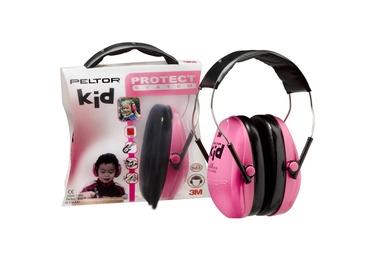 Apauginės ausinės vaikams 3M Peltor Kid, rožinės