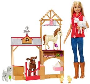 Mattel Barbie Sweet Orchard Farm Doll & Barn Playset GCK86
