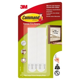 3M Command Damage Free Hanging Large Picture Hanging Strips 17206