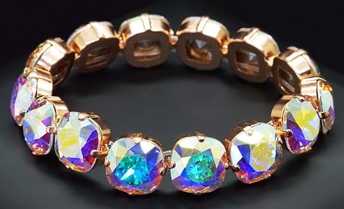 Diamond Sky Bracelet Glare Aurore Boreale With Crystals From Swarovski