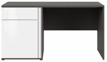 Black Red White Graphic Writing Desk White/Wolfram Grey