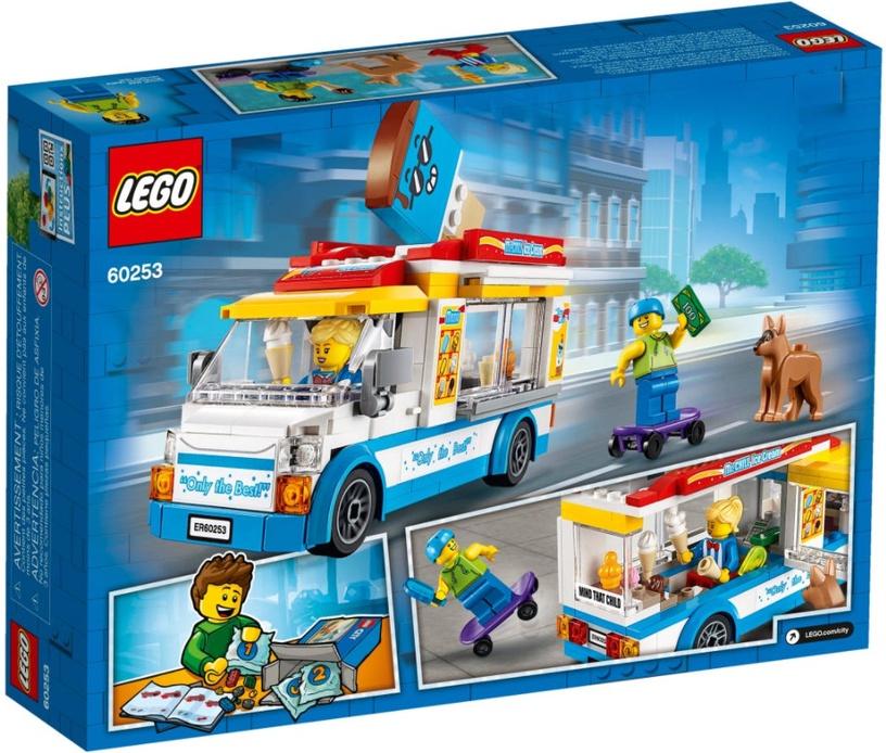 Конструктор LEGO City Грузовик мороженщика 60253, 200 шт.