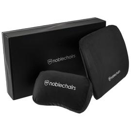 Подушка на стул Noblechairs Memory Foam Cushion Set, черный, 300 мм x 85 мм, 2 шт.
