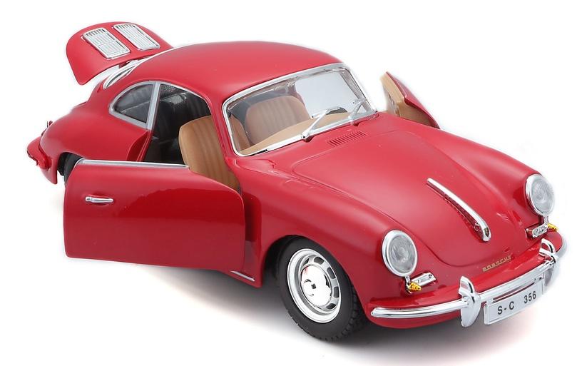 Bburago Car Porsche 356B Coupe 1961 1:24 18-22079 Red