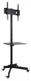 Sbox TC-001B Floor Trolley Led TV Stand Black