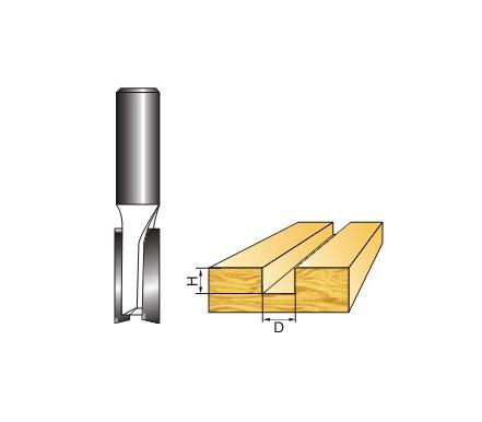 Dvišonė freza Vagner SDH su kakleliu, 9.52x25 mm