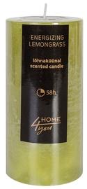 Ароматическая свеча Home4you Candle Energizing Lemongrass D6.8xH14см