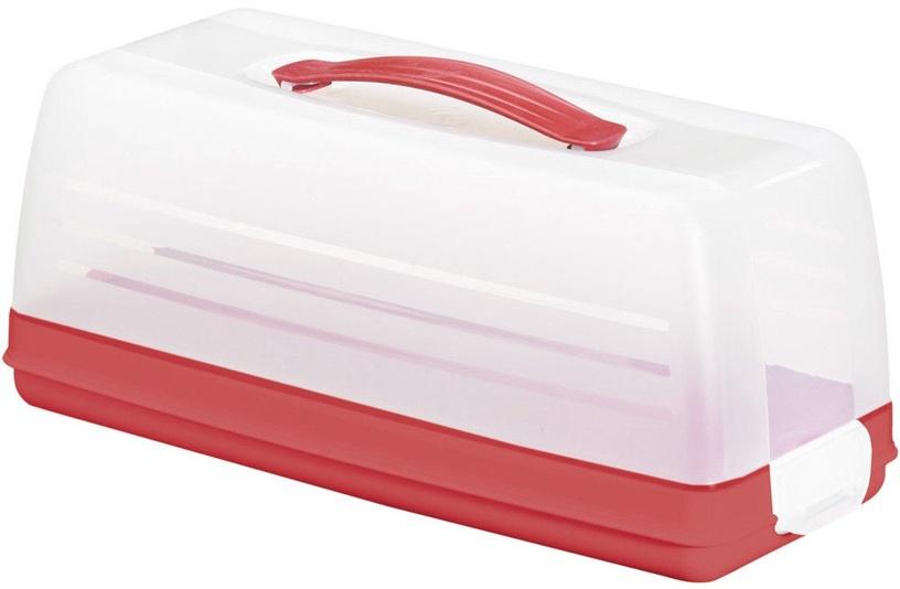 Curver Cake Transporting Box Rectangular Red