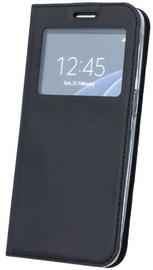 Blun Premium Matt Eco-leather Smart S-View Book Case For Samsung Galaxy A8 A530F Black