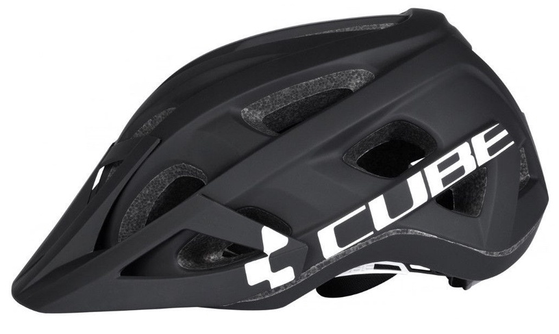 Cube Helmet AM Race Black/White S/M