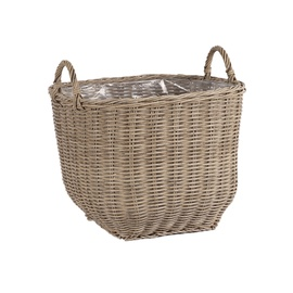 Home4you Wicker Basket 40x40x52cm Beige