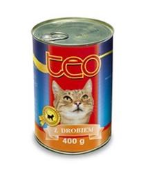 Konservi kaķiem Teo, ar vistas gaļu, 400 g