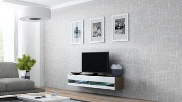 TV staliukas Cama Meble Vigo New 140 Latte/White Gloss, 1400x300x1400 mm