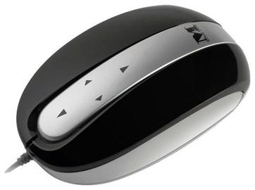 Kompiuterio pelė Modecom MC-802 Black/Silver, laidinė, optinė