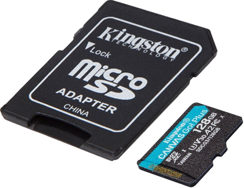 Kingston Canvas Go! Plus 128GB microSDXC UHS-I Class10 w/Adapter