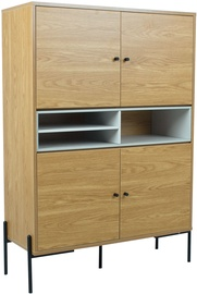 Komoda Home4you Delano Oak/Grey, 103x40x144 cm