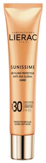 BB sejas krēms Lierac Sunissime Protective BB Fluid SPF30 Dore, 40 ml