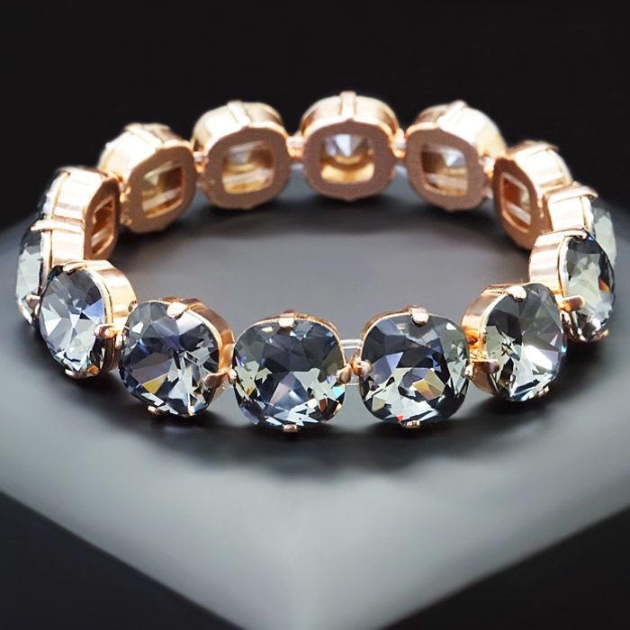 Diamond Sky Bracelet Glare Silver Night With Swarovski Crystals