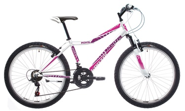 """Velosipēds Kenzel Roxis SF 33cm 24"""" White Pink 17"""