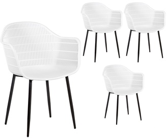 Home4you Chairs Flyn 4pcs White