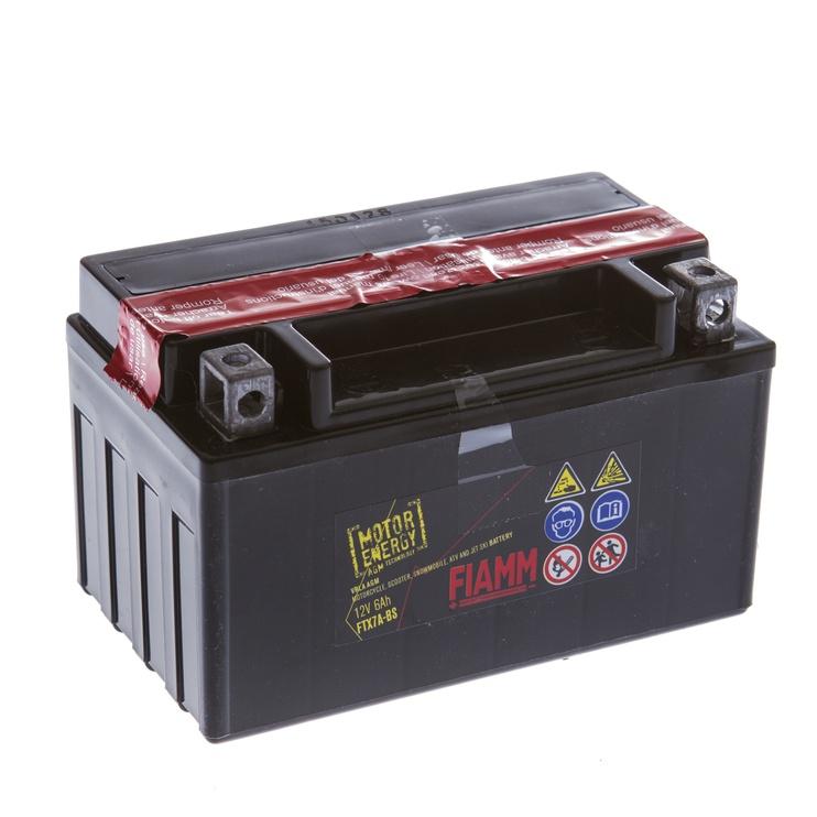 Akumuliatorius Fiamm Moto FTX7A-BS, 6 Ah, 75 A, 12 V