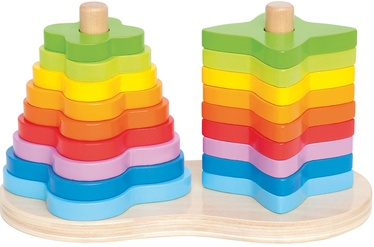 Klucīši Hape Double Rainbow Stacker E0406