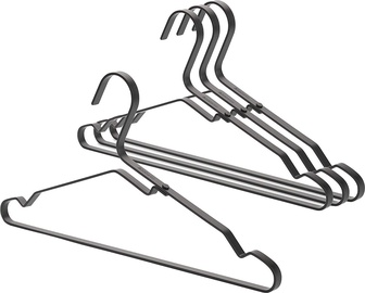 Brabantia 118647 Aluminium Clothes Hanger Set of 4 Black