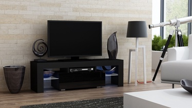TV galds Pro Meble Milano 130 With Light Black, 1300x350x450 mm