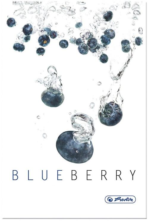 Herlitz Hardback Notebook A5 Fresh Fruit Blueberry