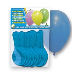 Balionai 5106-10, ovalūs, mėlyni, 12 vnt.