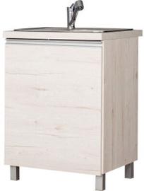 Bodzio Monia Bottom Cabinet Under Sink 60 Right Pearl Soma Oak
