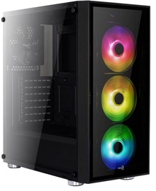 Aerocool Quartz RGB Midi Tower Black