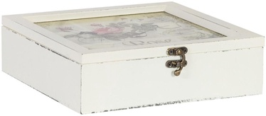 Home4you Tea Box Rose 24x25xH7.5cm 9-pole Container 75006