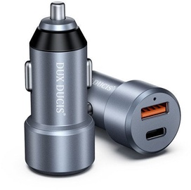 Dux Ducis PPS USB/USB Type-C Car Charger Silver