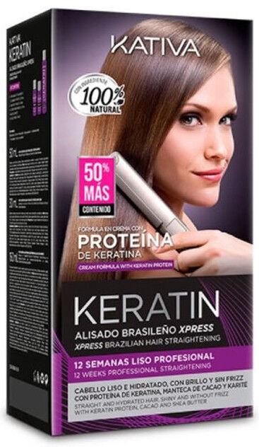 Kativa Keratin Brazilian Straightening Xpress Set 3pcs