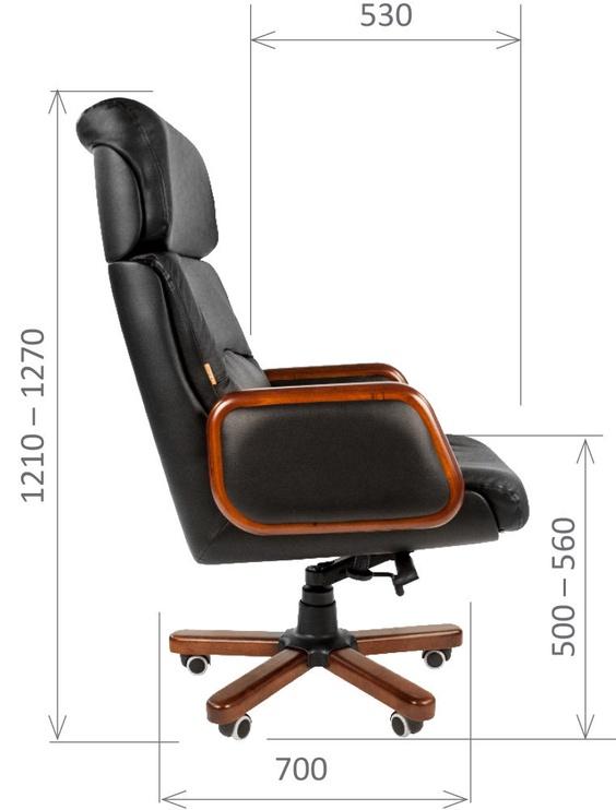 Chairman 417 Leather Black