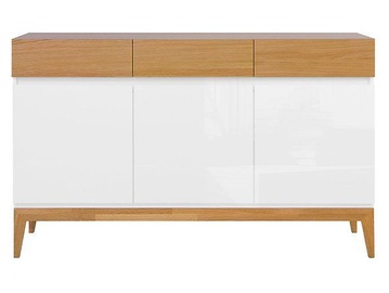 Komoda Black Red White Kioto White Oak, 145.5x40x88.5 cm
