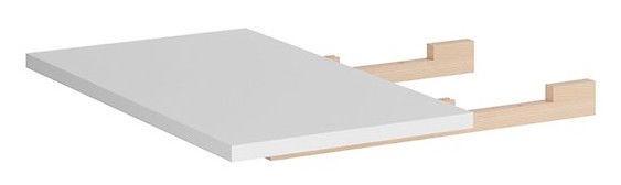 Black Red White Vario Modern Expanding Table 40x80cm White