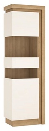 Meble Wojcik Lyon LYOV03L Display Case White/Riviera Light Oak Left