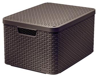 Dėžė Curver Style, su dangčiu ir rankena, tamsiai ruda, 44,5 x 33 x 24,8 cm