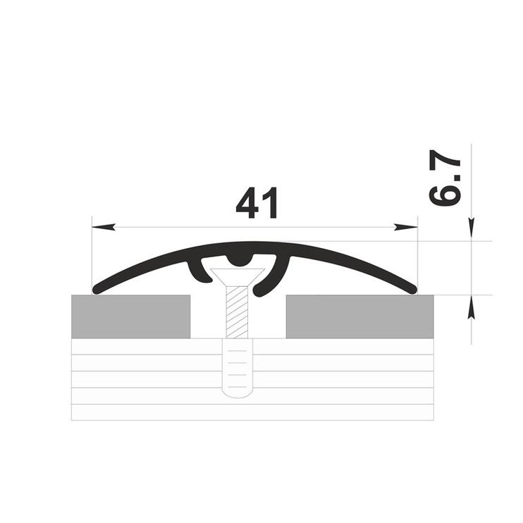 Jungiamoji juosta B4, sidabro spalvos, 4,1 x 0,67 x  180 cm