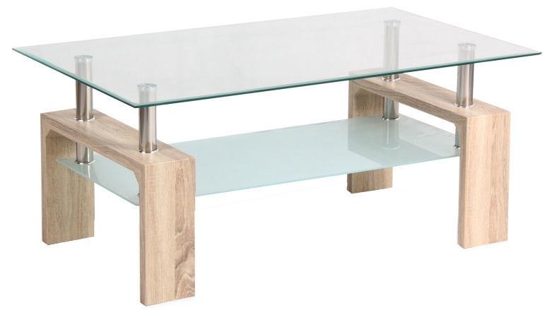 Kafijas galdiņš Signal Meble Modern Lisa Basic II Sonoma Oak, 1000x600x600 mm