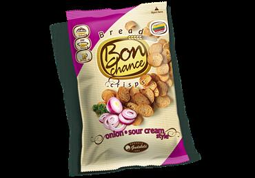 Duonos traškučiai Bon Chance su svogūnais, 120 g