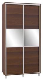 Bodzio SZP120W Sliding Wardrobe w/ Mirror 120x240cm Walnut