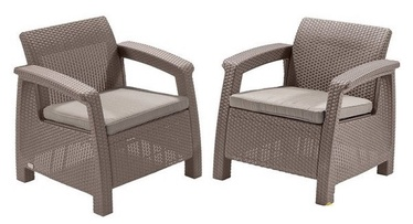 Keter Corfu Duo Garden Chair Set Beige