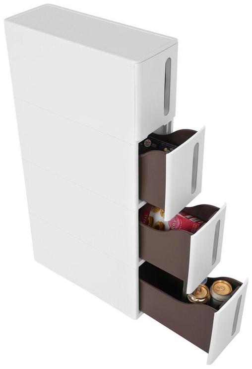 Songmics Storage Rack White 45x17x84cm
