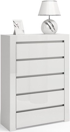 Top E Shop D5 of Chest 5 Drawers White